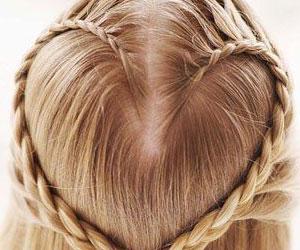 Коса сердечком